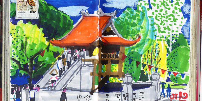 Khám phá Việt Nam qua những bức sketch của một du khách Nhật