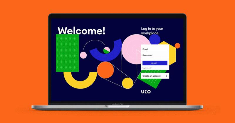 Trang web UKO dùng các khối hình học màu sắc để hiệu quả hóa công cụ