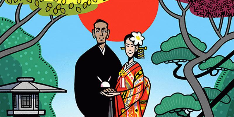 Bảng chào đám cưới đẹp như poster phim qua tranh chúc phúc của hoạ sỹ Takeuma
