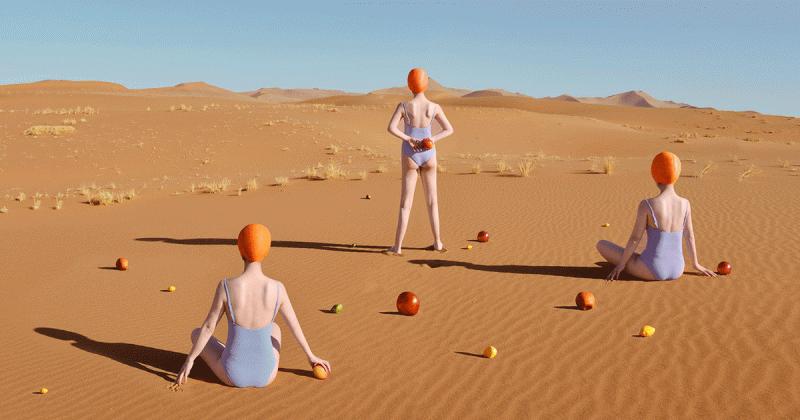 'Thức ăn đang làm những thứ kỳ lạ giữa sa mạc kìa': Bộ ảnh chụp đồ ăn giữa sa mạc của Yum Tang