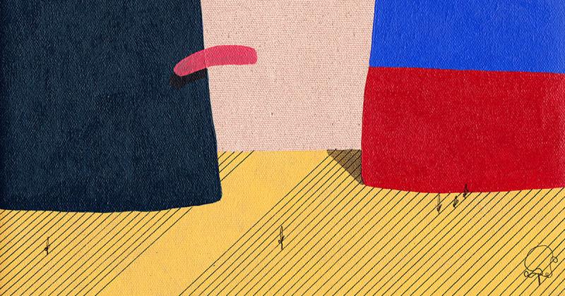 /nhân vật/ David Esquivel vẽ tranh từ những sự kiện lạ lùng trong cuộc sống