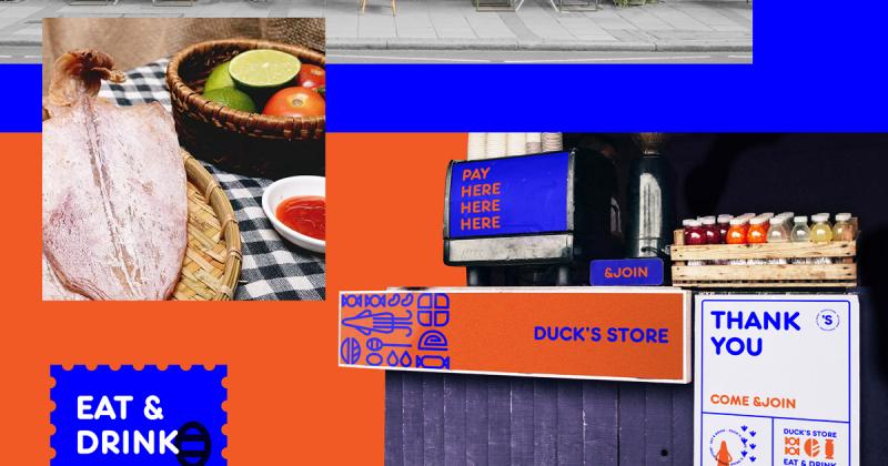 Chú vịt du hành từ miền Tây đến phố Tây trong bộ nhận diện Duck Store của Nu Nguyễn
