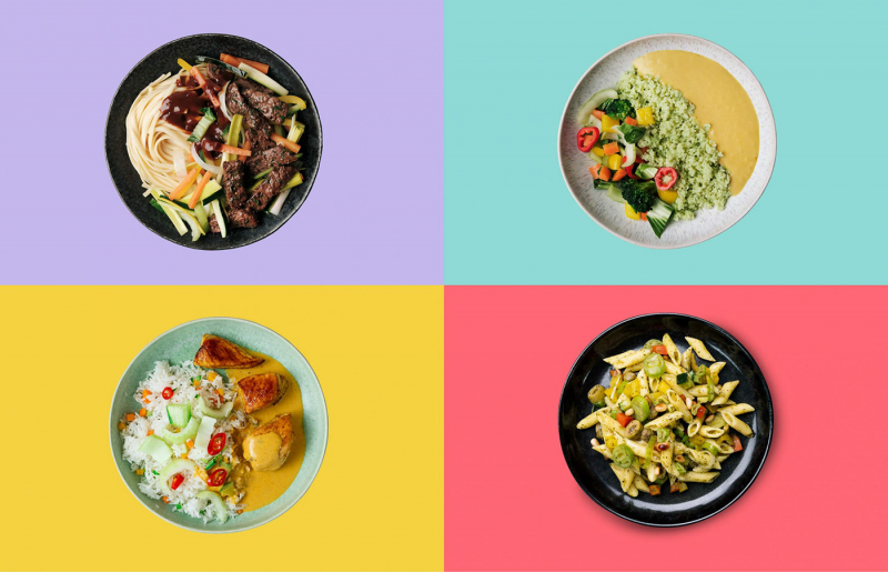 Bộ nhận diện I LIKE thể hiện những bữa ăn 'nhà làm' cho người không biết nấu ăn