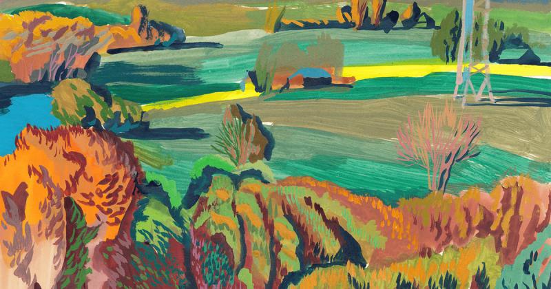 Khung cảnh ngoài ô cửa sổ qua tranh vẽ của Katsiaryna Dubovik