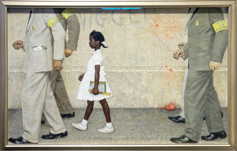 Tác phẩm 'The Problem We All Live With' của Norman Rockwell và vấn đề Dân quyền của người da màu