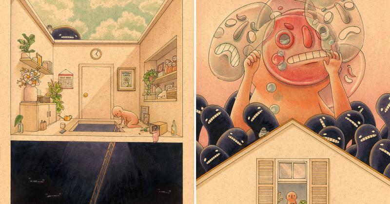 Felicia Chiao giải mã cảm xúc đa tầng bằng tranh vẽ