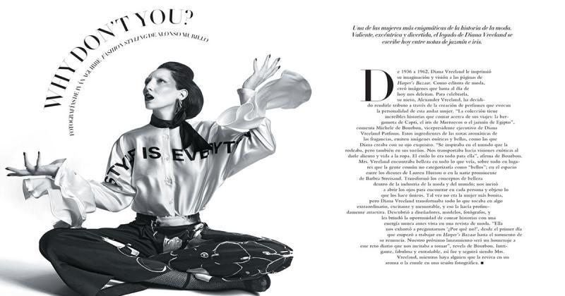 Bộ ảnh chụp tạp chí lấy cảm hứng từ biên tập viên thời trang nổi tiếng Diana Vreeland