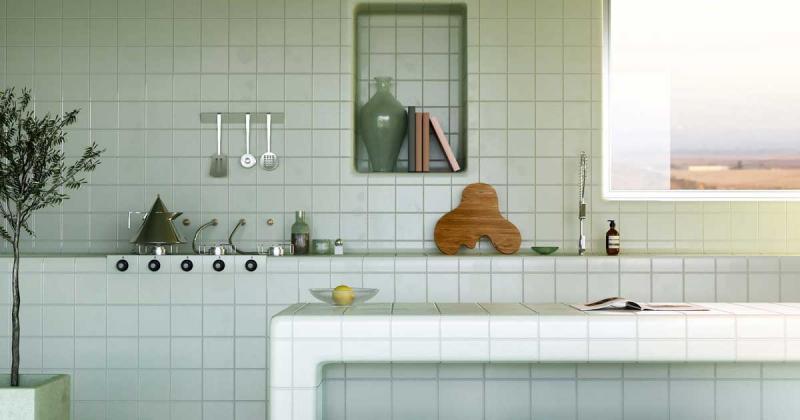 Tiled House: Ngôi nhà lát gạch 'dẻo' tạo nên những cạnh bo tròn đậm chất vị lai