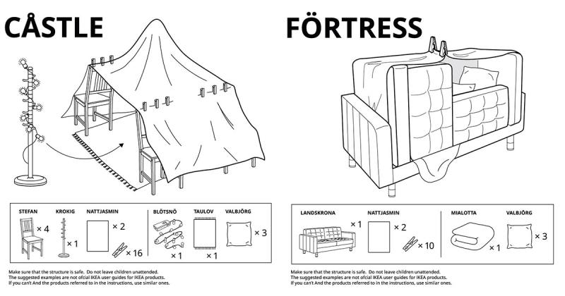 Loạt hướng dẫn xây dựng 'pháo đài tự chế' dành cho trẻ em mùa cách ly đến từ IKEA