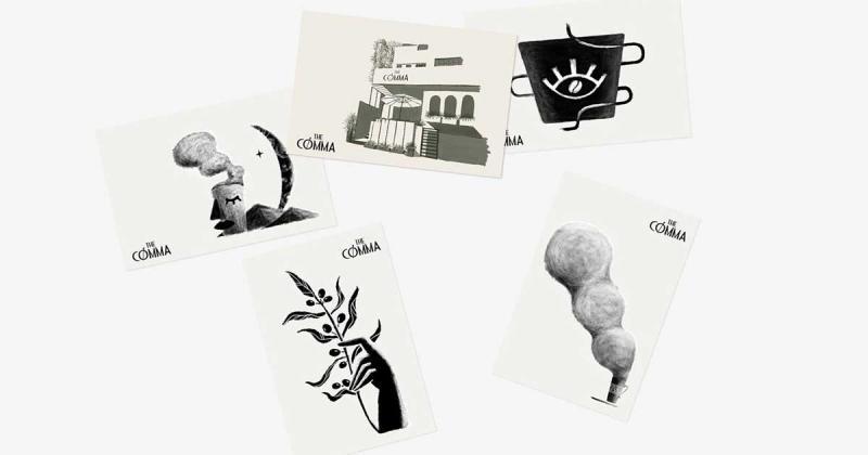 Bộ nhận diện với tinh thần 'pha chế theo mùa' từ quán cà phê The Comma của Ly DH