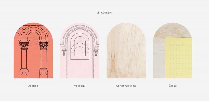 Bộ nhận diện giúp thay đổi xã hội lấy cảm hứng từ ô cửa sổ kính màu của nhà thờ