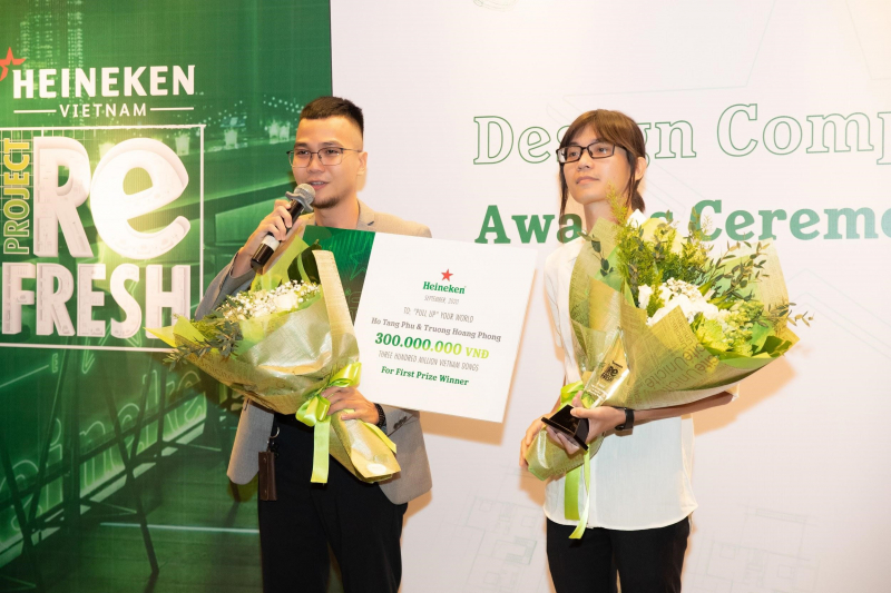 Ngôi sao tài năng của HEINEKEN® PROJECT REFRESH tỏa sáng trong đêm trao giải