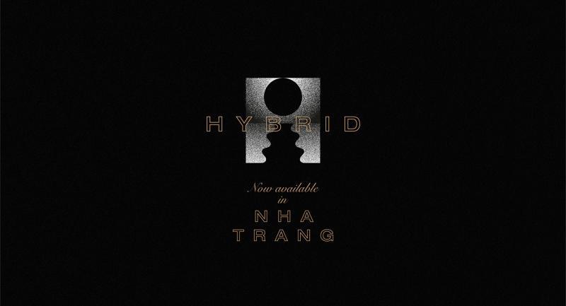 Bộ nhận diện Hybrid Bar (Nha Trang) của Lại Nguyên Tín, không gian 'chill' trước biển đêm