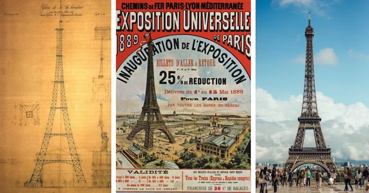 Lịch sử hấp dẫn và việc xây dựng gây tranh cãi của tháp Eiffel