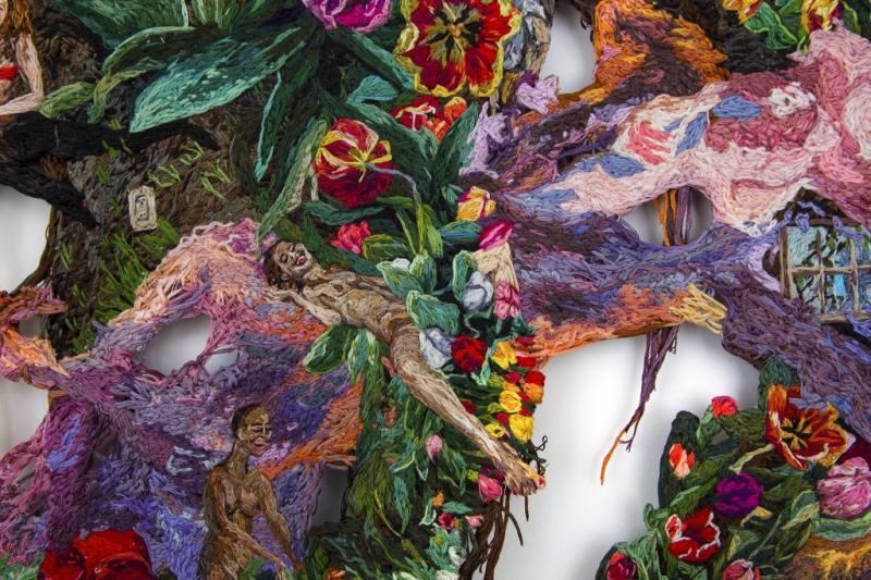 /Thăm xưởng nghệ sĩ/ Sophia Narrett và sự nổi loạn trong các tác phẩm thêu tay