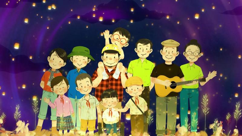 Thông điệp yên bình và yêu thương trong phim hoạt hình ngắn của UNICEF Việt Nam