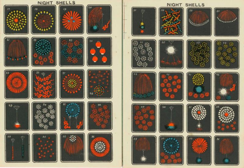 Tải miễn phí loạt tranh minh họa pháo hoa Nhật Bản vào cuối thế kỉ 19