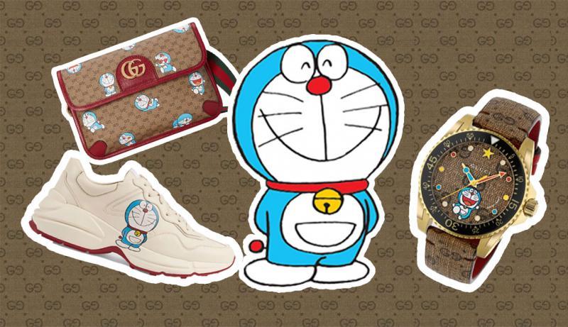 Gucci 'gây bão' với những mẫu thiết kế bắt mắt hợp tác cùng Doraemon
