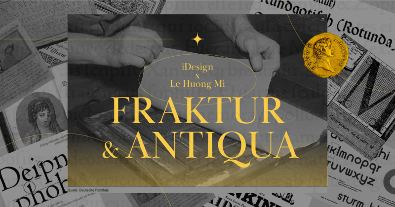 /viết một tay/ Nguồn gốc của kiểu chữ Fraktur và Antiqua, Antiqua Phục Hưng - Khi kỹ thuật tạo chữ và in công nghiệp mới xuất hiện (Phần 1)