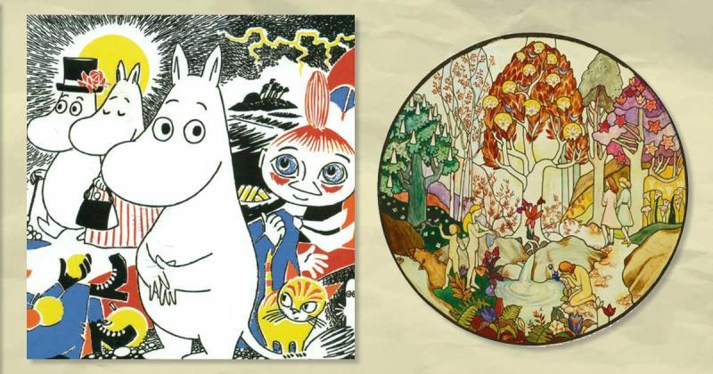 Những bức bích họa tinh tế được kiến tạo từ Tove Jansson - tác giả của Moomins huyền thoại