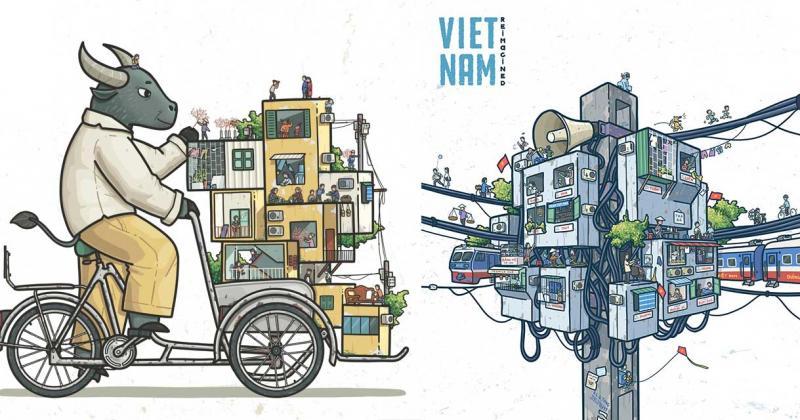 Cuộc sống thường nhật của người dân Việt Nam thu bé lại vừa bằng một 'Trạm Tập Thể' của Đặng Tuấn