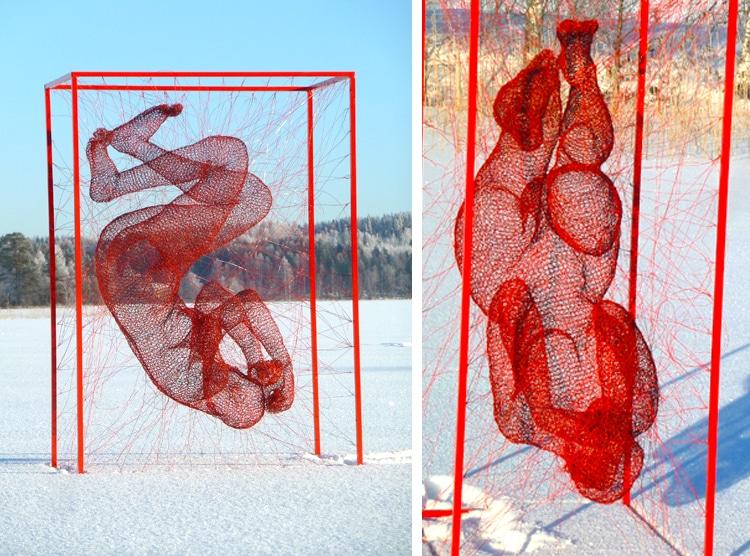 Chiêm ngưỡng các tác phẩm điêu khắc tuyệt mỹ bằng dây thép của Nghệ sĩ Nadia Zubareva