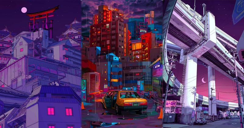 Mad Dog Jones ra mắt bộ 'hoạt ảnh' được mã hóa về một Tokyo đậm chất Cyperpunk