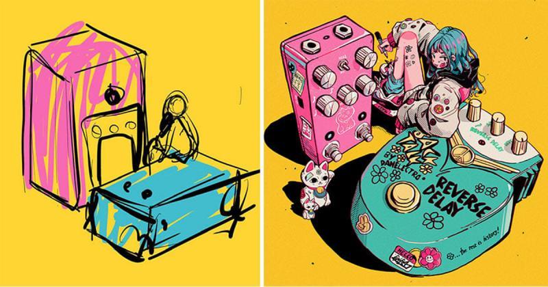 Sketch vs. Final: Từ mớ hỗn độn trở thành tác phẩm ngoạn mục như thế nào?