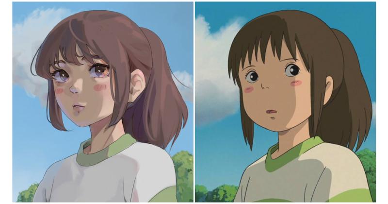 #Ghibliredraw-  Cùng khám phá các nhân vật của Ghibli Studio được 'tái hiện' dưới nhiều phong cách khác nhau