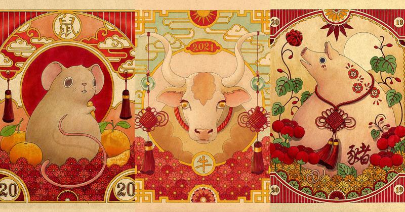 Các Con Giáp truyền thống được Felicia Chiao thổi hồn sức sống trong một loạt hình ảnh chào đón Tết 2021
