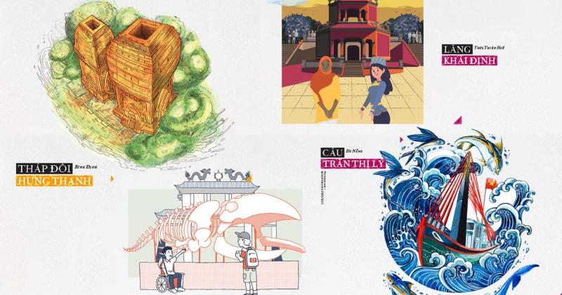 50 họa sĩ thể hiện 100 công trình cho 'Kiến trúc miền Trung' của Ký ức Việt Nam