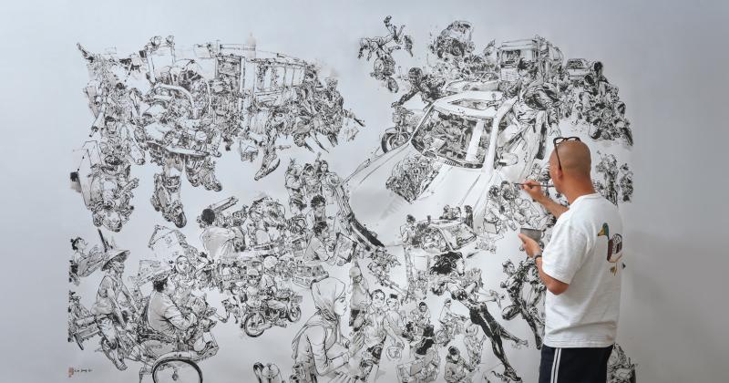 Những bức minh họa có độ chi tiết đến khó tin của Kim Jung Gi
