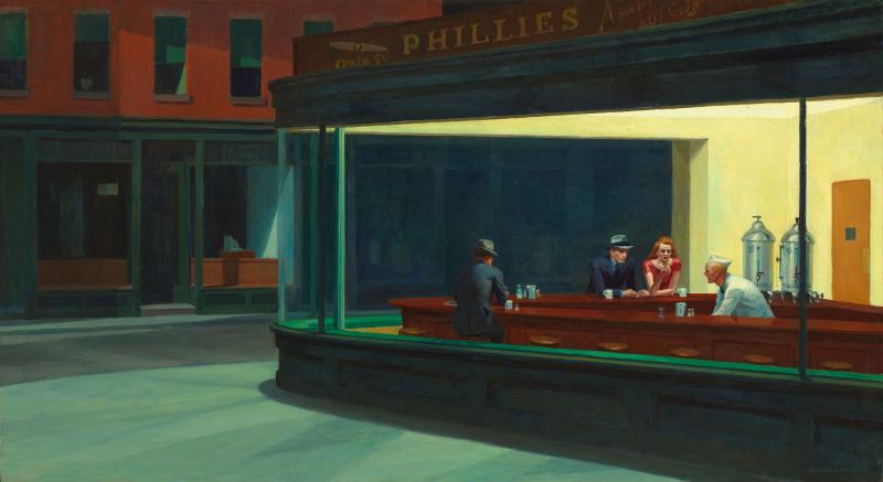 /Tách Lớp/ Sự yên tĩnh bí ẩn  trong Nighthawks của Edward Hopper
