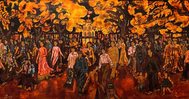 Mùa xuân đất Việt dịu dàng qua đôi mắt của những họa sĩ đương đại
