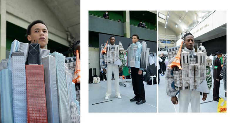 """Hé lộ 2 chiếc áo khoác """"kì dị"""" lấy cảm hứng từ những công trình kiến trúc nổi tiếng trong Louis Vuitton Thu/Đông 2021"""