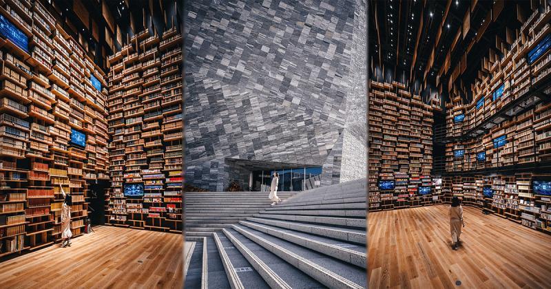 Chiêm ngưỡng 'Nhà hát giá sách' do chính kiến trúc sư Kengo Kuma thiết kế cho Bảo tàng Văn hóa Kadokawa