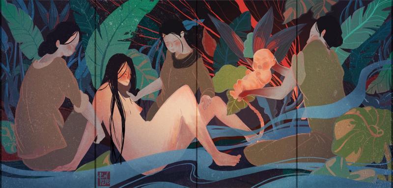 Kết quả Illustration Challenge #09: Vẽ về 'Nguồn - Tình mẫu tử trong văn học dân gian Việt Nam'