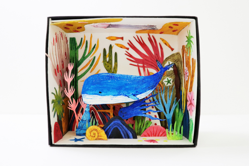 """""""Paper Craft"""" - Những mô hình thủ công ngẫu hứng phủ đầy sắc màu rực rỡ của Xuân Lê"""
