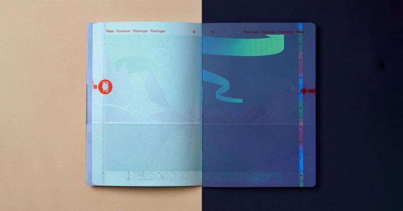 Mẫu hộ chiếu mới của Na Uy in hình phong cảnh đổi màu từ ngày sang đêm