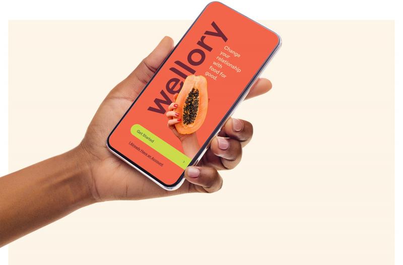 Giao diện app dinh dưỡng mang tính kêu gọi hành động