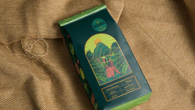 Bao bì cà phê thể hiện những vùng đất xanh tràn ngập nắng gió của Brazil và California