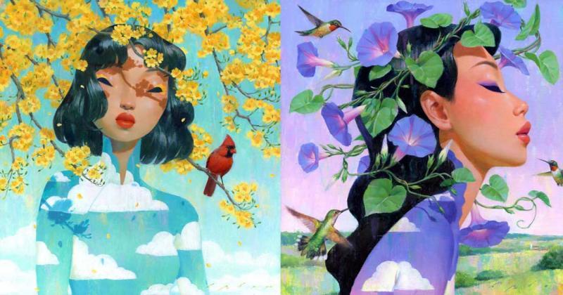 Những bức chân dung mềm mại đầy sắc màu mang âm hưởng phương Đông của họa sĩ Bảo Phạm