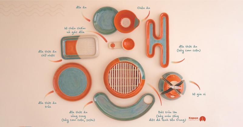 KAGUYA của Doanh Gia: Bộ dụng cụ ăn uống lấy cảm hứng từ truyền thuyết nàng công chúa ống tre