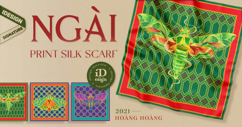 """Khám phá tinh thần Á Đông trong dự án khăn lụa cao cấp """"NGÀI"""" PRINT SILK SCARF của Hoàng Hoàng"""