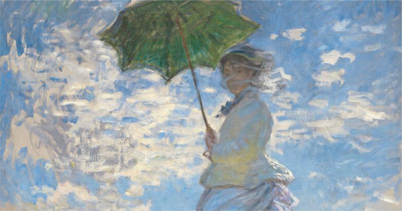 /Tách Lớp/ Woman with a Parasol - Cuộc dạo chơi trong thế giới màu sắc của Monet