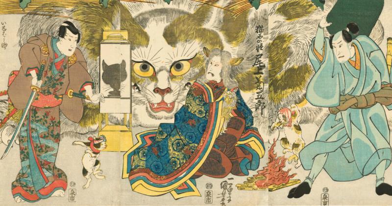 /meo meo/ Câu chuyện đằng sau những bức tranh mèo độc đáo của Utagawa Kuniyoshi