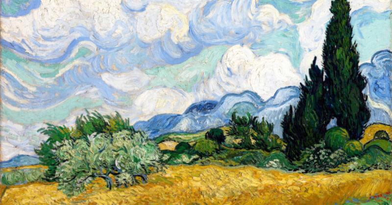 /Tách lớp/ Wheat Field with Cypresses - Miền quê nước Pháp trong đôi mắt nhiệm màu của Van Gogh