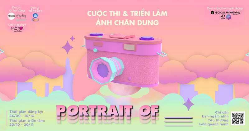 Chỉ còn 2 ngày đăng ký cuộc thi ảnh online 'Portrait of' do Phô Mai Màu Hồng tổ chức